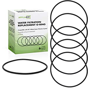 AppliaFit 6-Pack O-Ring Gasket Seals Compatible with GE HHRING - Fits Whole Home Filtration Models GXWH30C, GXWH35F, GXWH38F, GXWH38S, GXWH40L