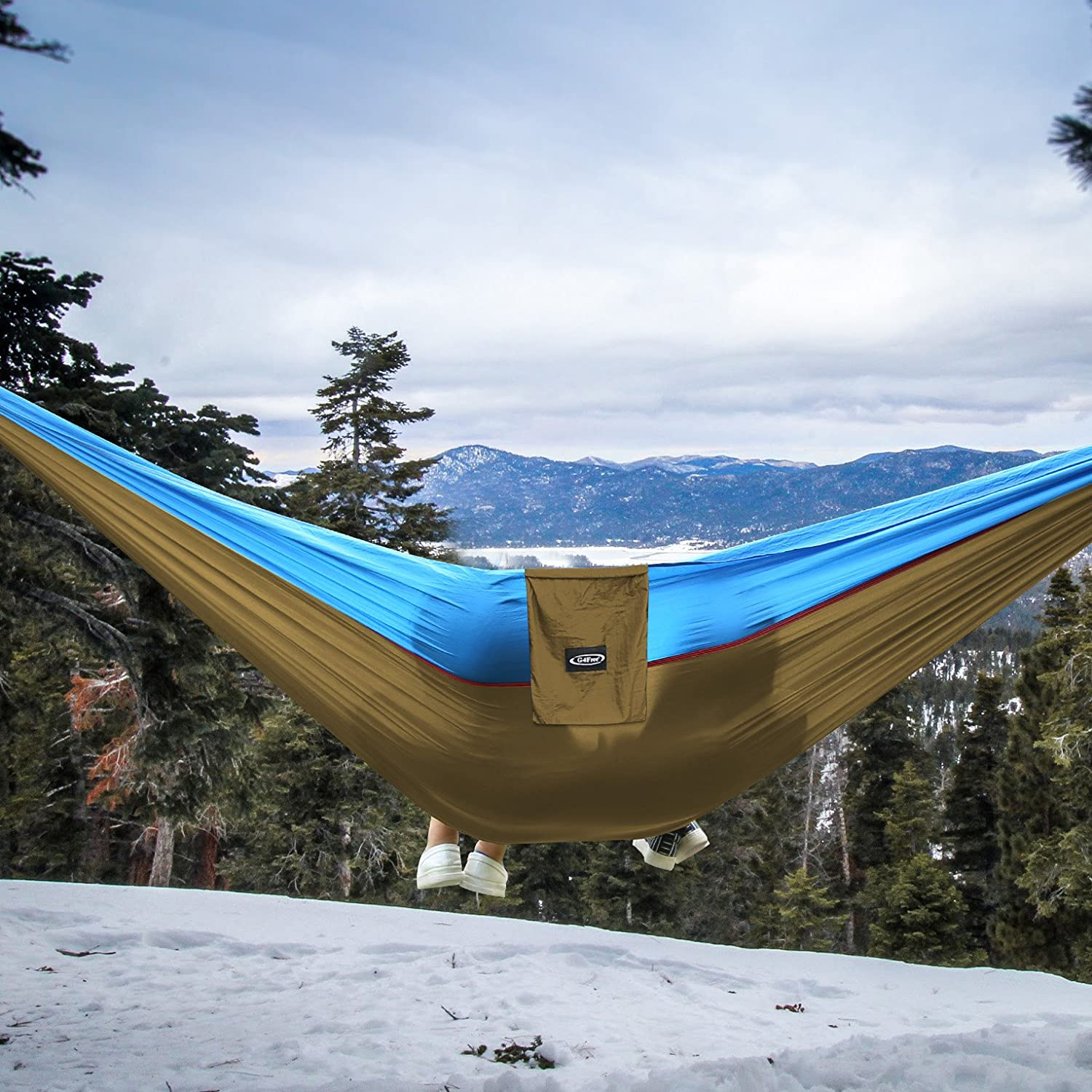 -with Carabiners /& Hammock Straps - Lightweight Portable Parachute Nylon 210T Camping Hammocks for Backpacking,Backyard 660lbs 2 Person 118x 75 G4Free Double Camping Hammock