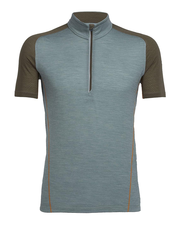 a58660385b Amazon.com: Icebreaker Merino Men's Strike Lite Short Sleeve Half Zip  Cycling Top, Moisture Wicking, Merino Summer Blend: Clothing