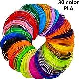 3D Stift Filament 30 Farben 1.75mm 3D Ink PrintFilament , 3D Druckmaterialien für 3D Drucker-Stift & 3D Pen &3D Stift &3D Drucker Adkwse (5M * 30 Farbe)