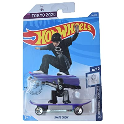 Hot Wheels Olympic Games Tokyo 2020 6/10 Skate Grom 154/250, Purple/Black: Toys & Games