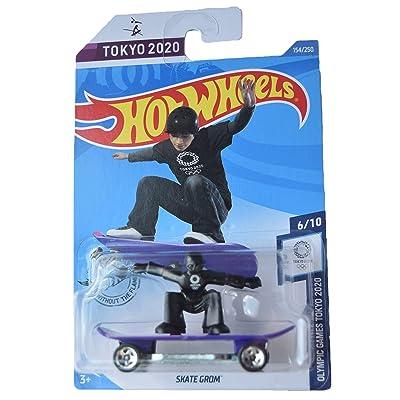 Hot Wheels Olympic Games Tokyo 2020 6/10 Skate Grom 154/250, Purple/Black: Toys & Games [5Bkhe0803996]