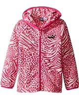 Puma Kids Womens Printed Polar Fleece Zip Front Hoodie (Toddler)
