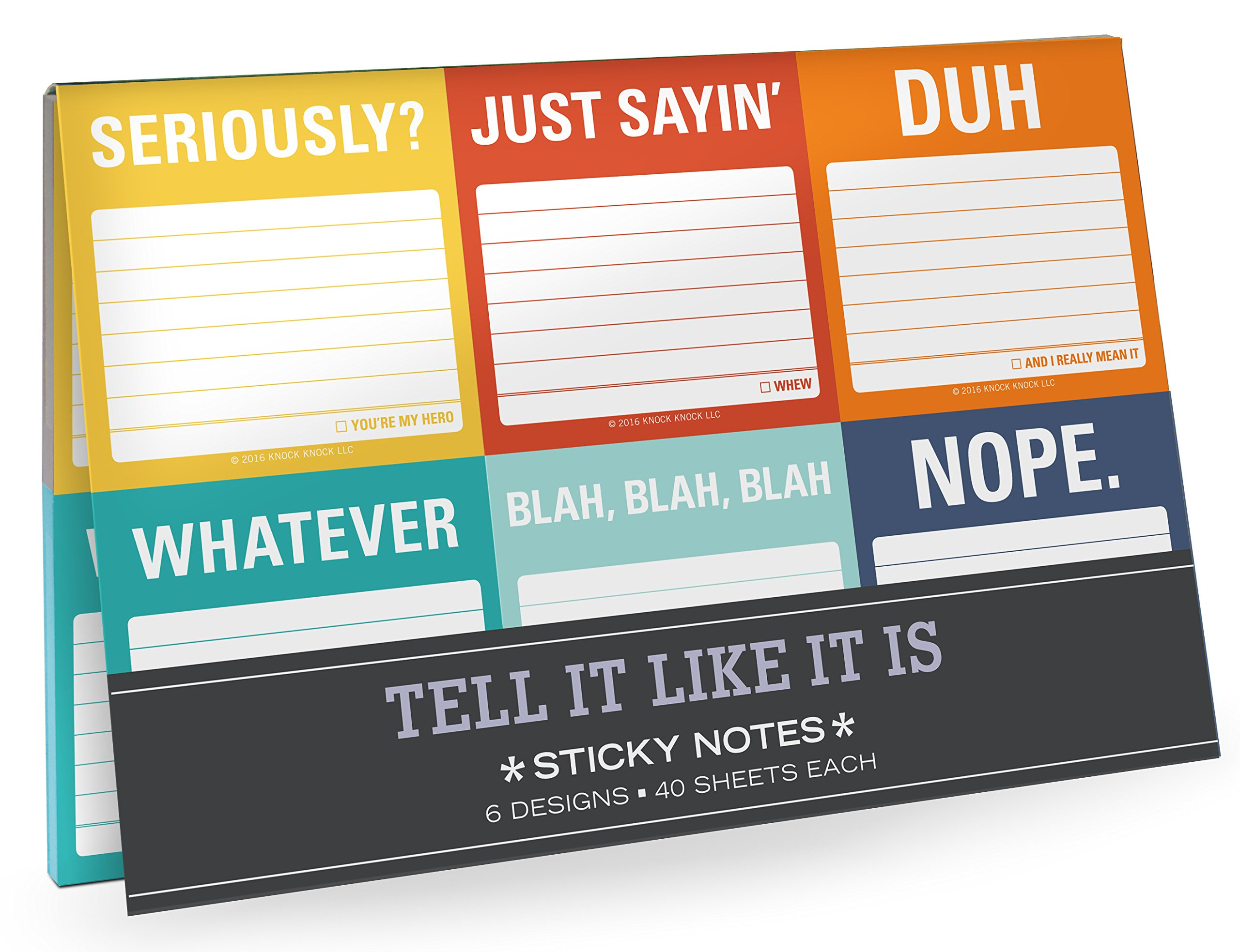 Knock Knock Tell It Like It Is Sticky Note Packet (12708)