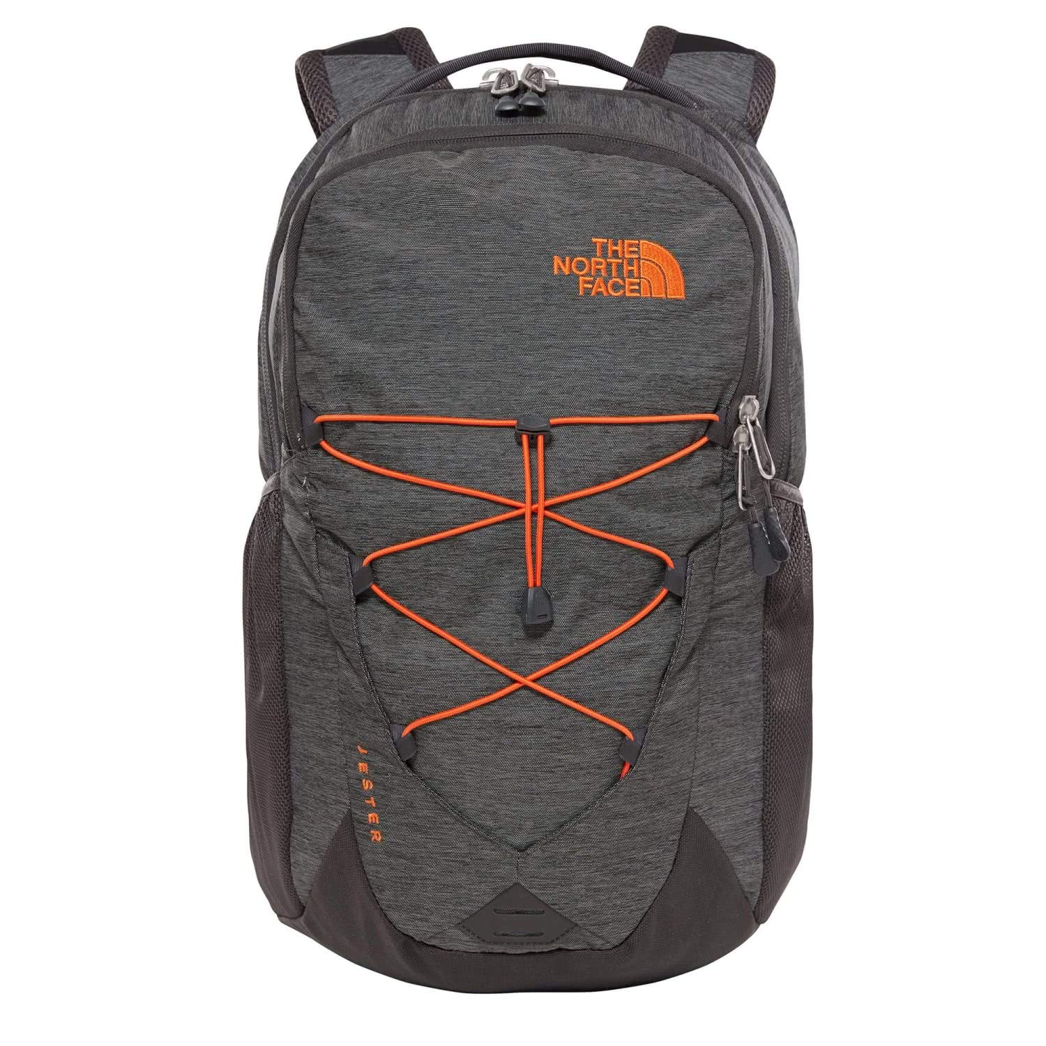 The North Face Jester - TNF Dark Grey Heather & Persian Orange - OS