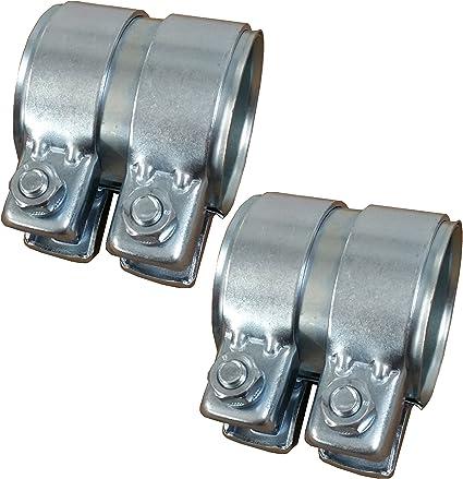 Connettore per tubi con doppio morsetto 45x90 mm