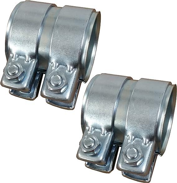 65 mm /à 76 mm Avec 2 colliers de serrage R/éducteur de tuyau d/échappement de 200 mm