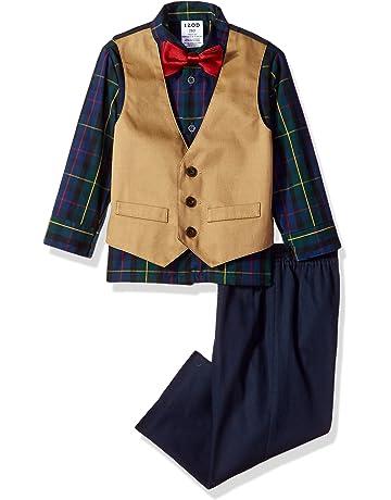 a4bf0d5c Izod Boys' 4-Piece Vest Set with Dress Shirt, Bow Tie, Pants
