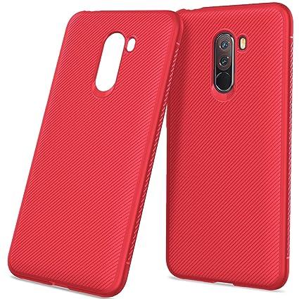 Funda Xiaomi Pocophone F1,Grano de Cuero,Ultra Fina Silicona ...