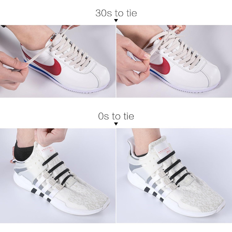 Inmaker - Cordones para zapatillas de niños y adultos, silicona, planos, elásticos e impermeables: Amazon.es: Zapatos y complementos