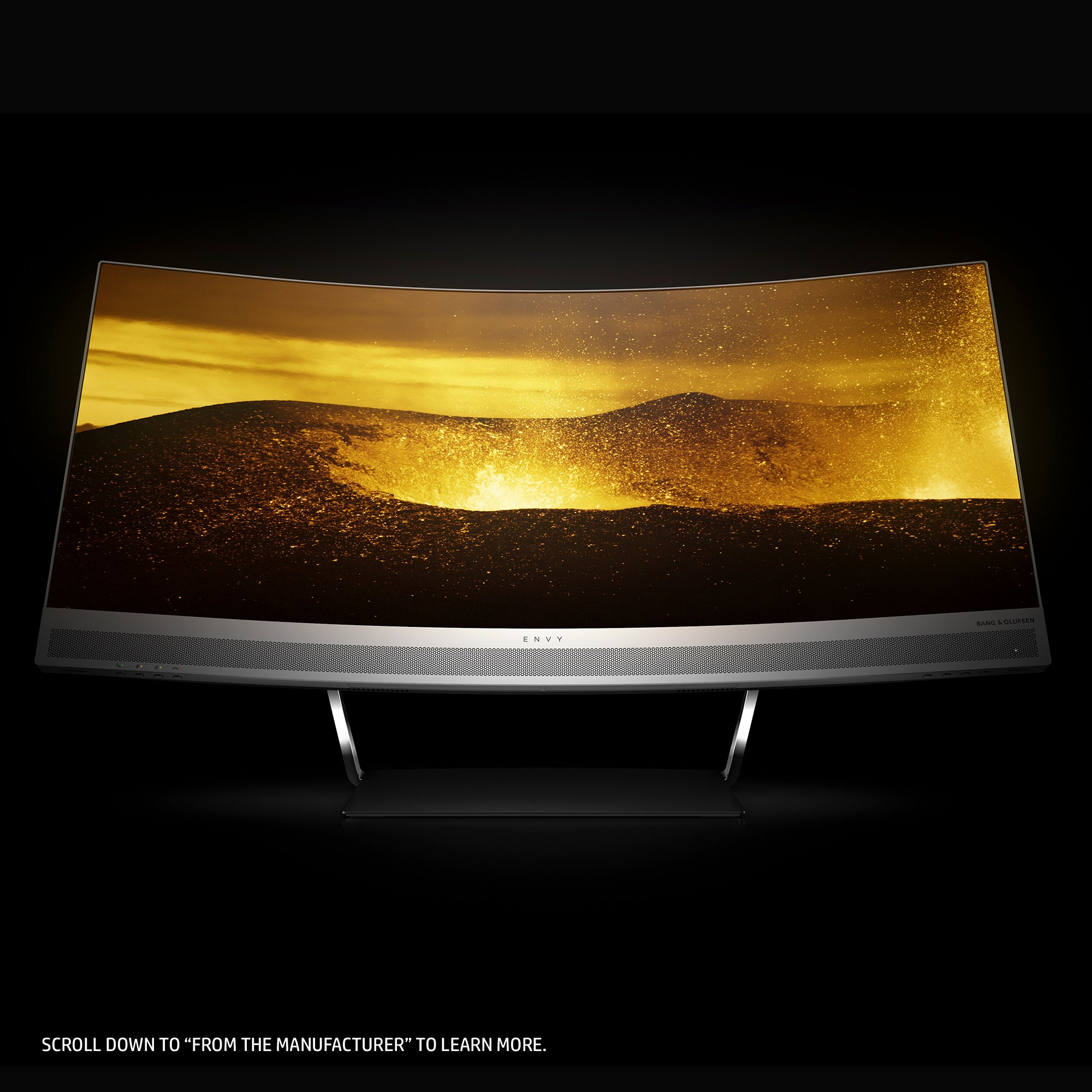 HP ENVY 34-inch Ultra WQHD Curved Monitor with AMD Freesync Technology, Webcam and Audio by Bang & Olufsen (Black/Silver) by HP (Image #7)