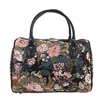 Ladies Travel Bag Weekend Gym Cabin Approved Hand Luggage Peony Flower