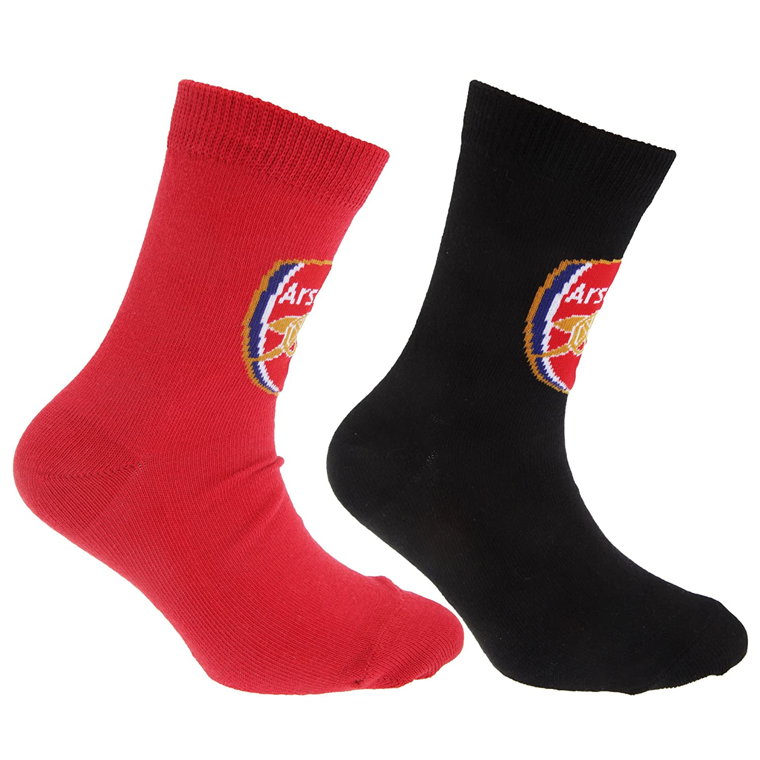 Arsenal FC Childrens Boys Official Football Crest Socks (Pack Of 2)