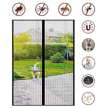 ACTOPP Magnet Fliegengitter T/ür Insektenschutz Fliegenvorhang 110 x 220 mit 28 St/ück Magneten Moskitonetz T/ür Magnetvorhang f/ür Wohnzimmer Balkont/ür Terrassent/ür Kinderleichte Klebemontage