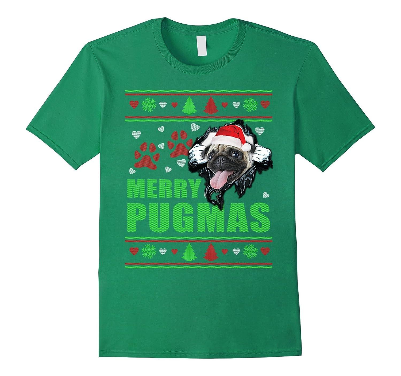 e8a90c6f Merry Pugmas Pug Christmas Sweater Style T Shirt-CL – Colamaga