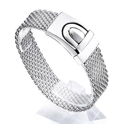 hamany joyas acero inoxidable hombre rejilla pulsera, reloj ...