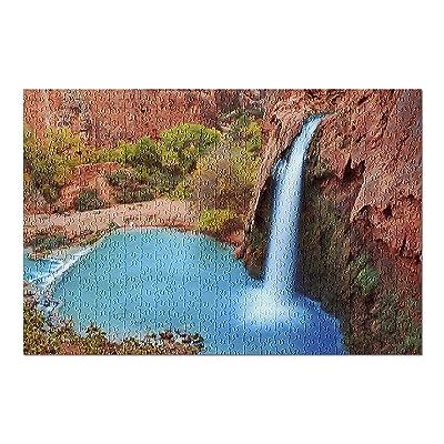 Beautiful Waterfall - Havasu Falls, Supai, Arizona 9020132 (Premium 500 Piece Jigsaw Puzzle for Adults, 13x19, Made in USA!): Toys & Games