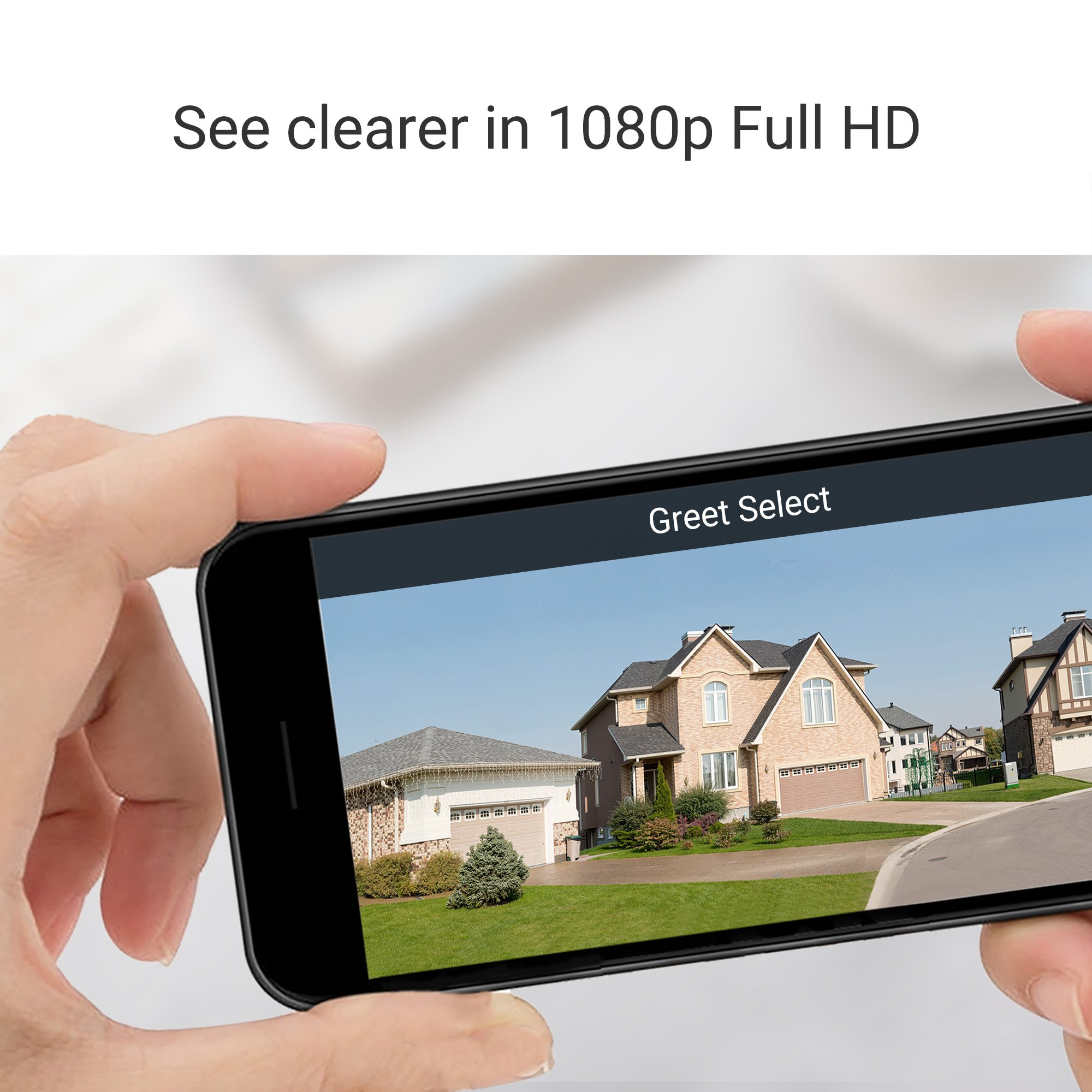 Zmodo Greet Select WiFi Video Doorbell, 1080p Full HD Camera, Free 30-Day Cloud Service, Works with Alexa by Zmodo (Image #2)