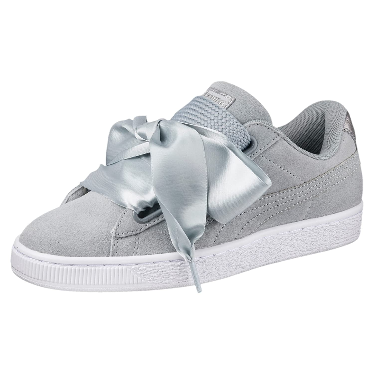 buy popular 04243 8b7fe Puma Women's Suede Heart Safari WN's Grey Sneakers - 6 UK ...