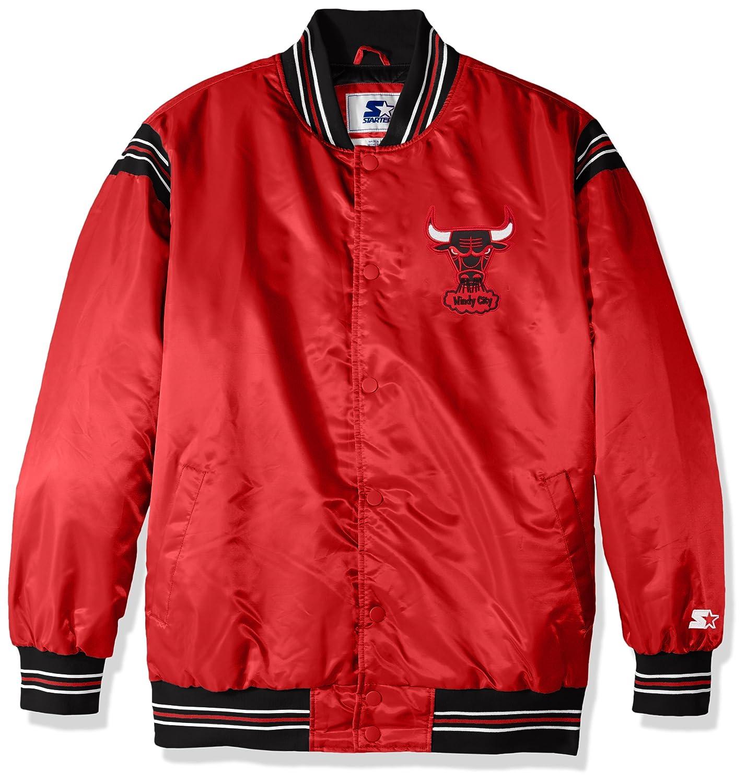 Red Starter Adult Men The Enforcer Retro Satin Jacket 5X