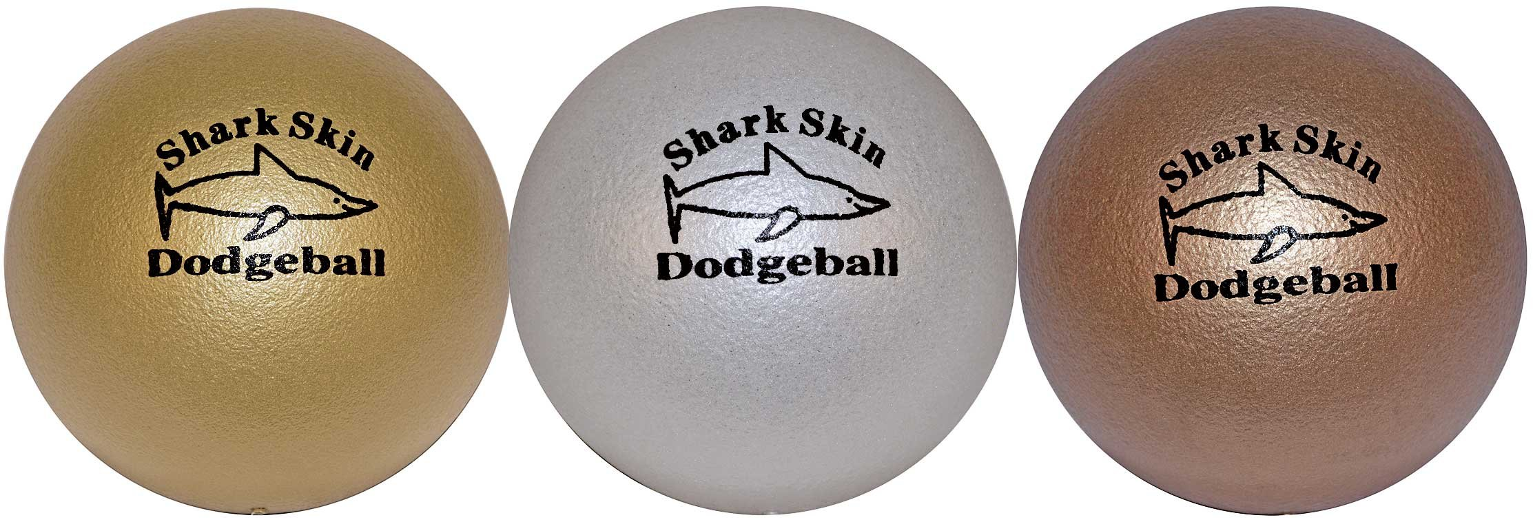 Great Lakes Sports Shark Skin Foam Dodgeballs (Set of 3), in Unique Metallic Colors by Great Lakes Sports
