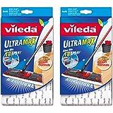 Vileda UltraMax / 1-2 Spray Ersatz Mikrofaser Pads - weiß - 2er Packung
