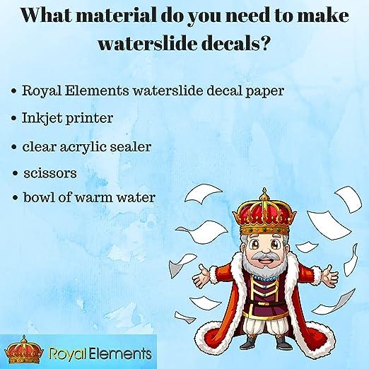 Amazon.com: Royal Elements - Papel adhesivo para impresora ...