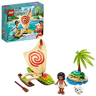 LEGO Disney Moana's Ocean Adventure 43170 Toy Building Kit, New 2020 (46 Pieces): Toys & Games