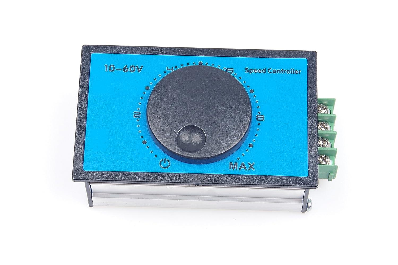 KNACRO DC Brush Motor Speed Controller DC 12V 24V 36V 48V 60V 20A Soft-starting 0-100/% Speed Range DC10-60V
