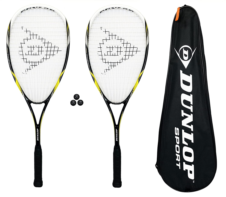 Dunlop Nanomax Pro Raquetas da Squash + Bolas (Opciones de Paquete)