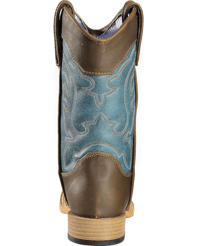 Double Barrel Boys Open Range Cowboy Boot Square Toe 4451602C