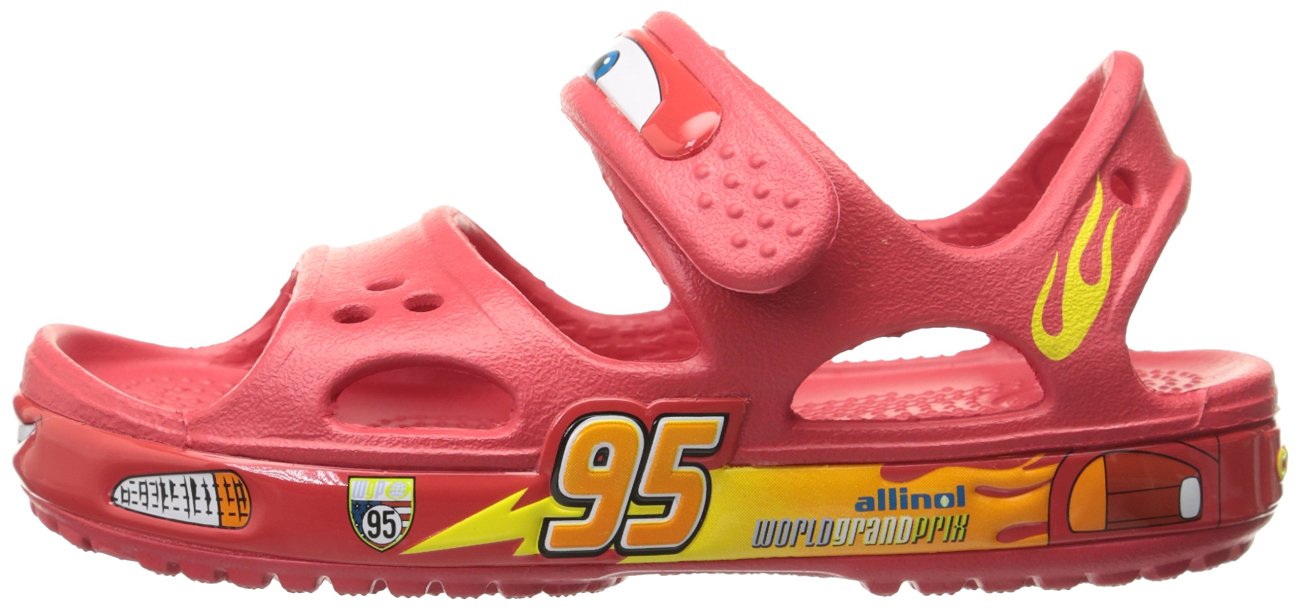 Crocs Crocband II Cars Sandal (Toddler/Little Kid), Red, 6 M US Toddler by Crocs (Image #5)