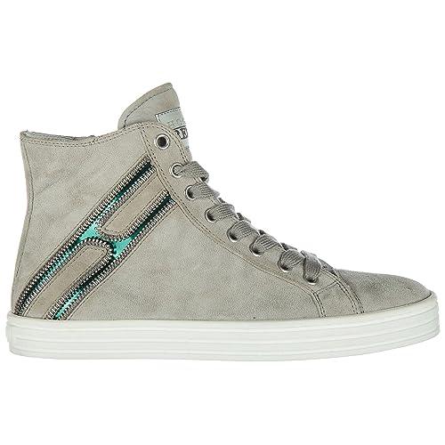 Hogan Rebel Scarpe Sneakers Alte Donna in camoscio Nuove r141 Beige EU 35.5  HXW1410H1601SG574O  Amazon.it  Scarpe e borse 17ea85434f7