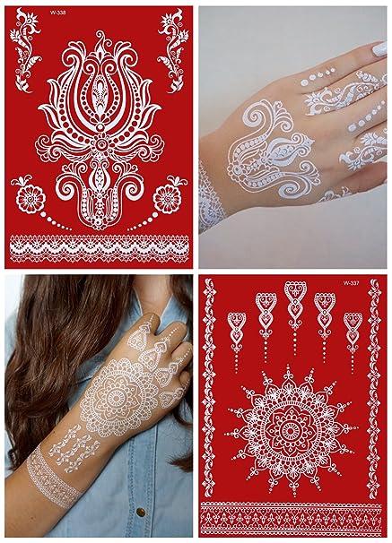 Temporary Tattoos blanco Punta para el brazo, Hand y Dedo Flash ...