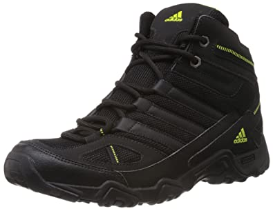 adidas Men's Xaphan Mid Black and Mid Green Mesh Trekking and Hiking Shoes  ...
