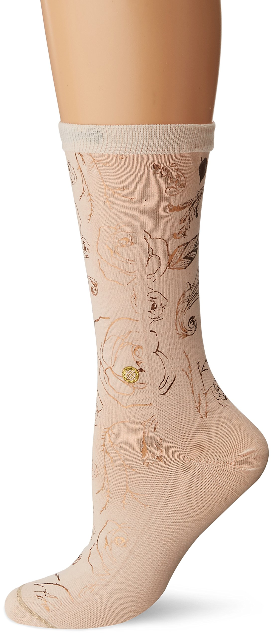 Stance Women's Belle of the Ball Beauty and the Beast Everyday Crew Sock, Blush, Small