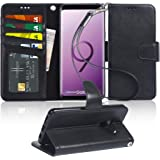 Arae Case Compatible for Samsung Galaxy S9 Plus, [Wrist Strap] Flip Folio [Kickstand Feature] PU Leather Wallet case…