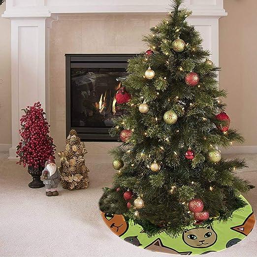 Falda de árbol de Navidad Hermosa y animada Moda Animal Mascota ...