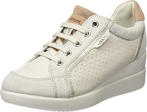 Faringe Propuesta alternativa amor  Geox D STARDUST A, Women's Sneakers, Off White (Off Whitec1002), 2.5 UK (35  EU): Amazon.co.uk: Shoes & Bags