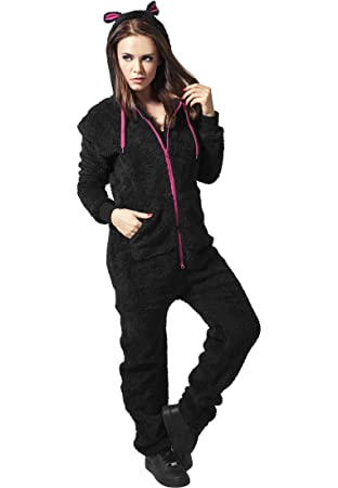 Ladies Teddy Jumpsuit blk/fuc XS/S: Amazon.es: Deportes y aire libre