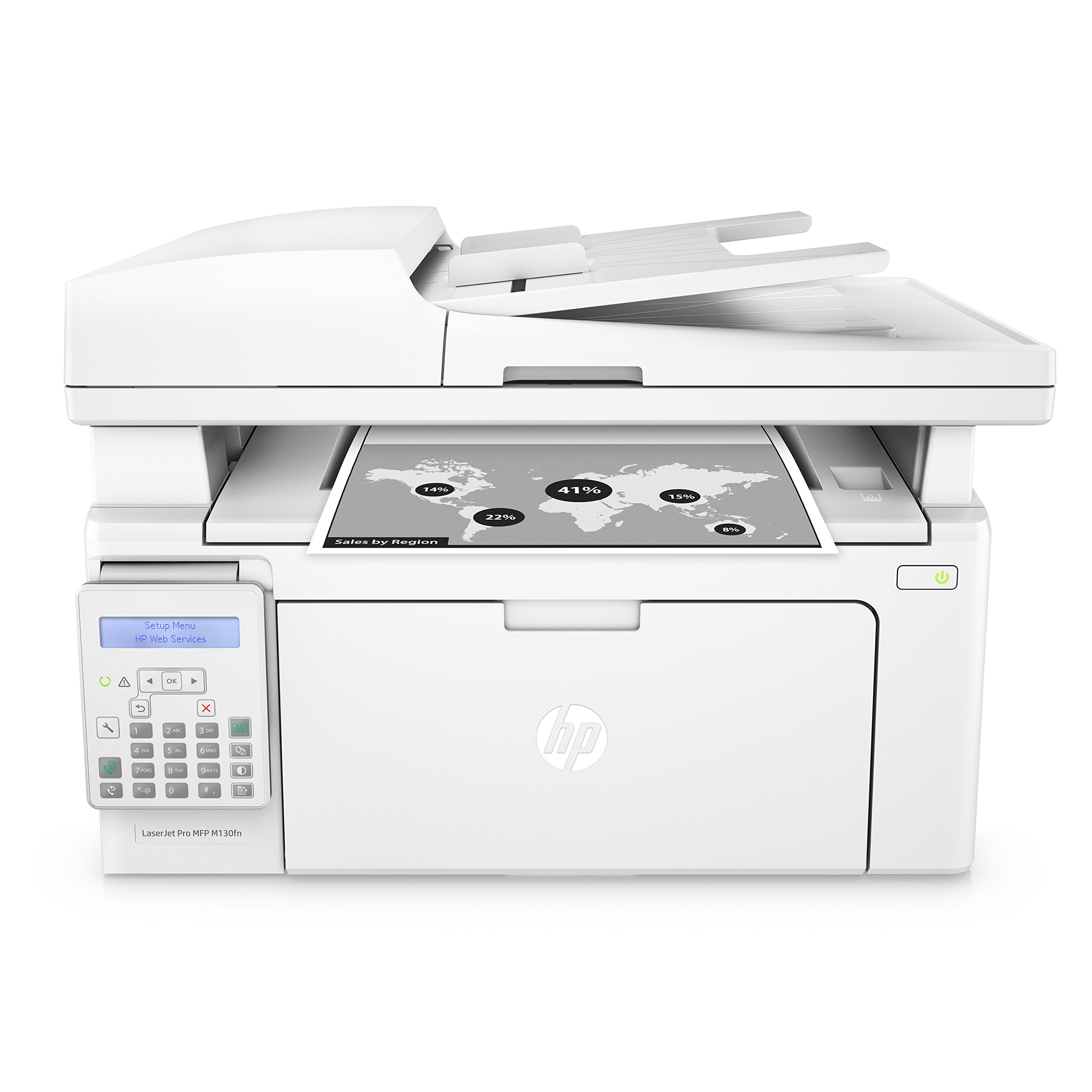 HP LaserJet Pro M130fn All-in-One Laser Printer with print security (G3Q59A). Replaces HP M127fn Laser Printer