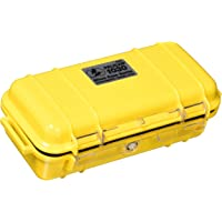 Pelican 1020-025-100 Micro Case with Clear Lid and Carabineer  - Black