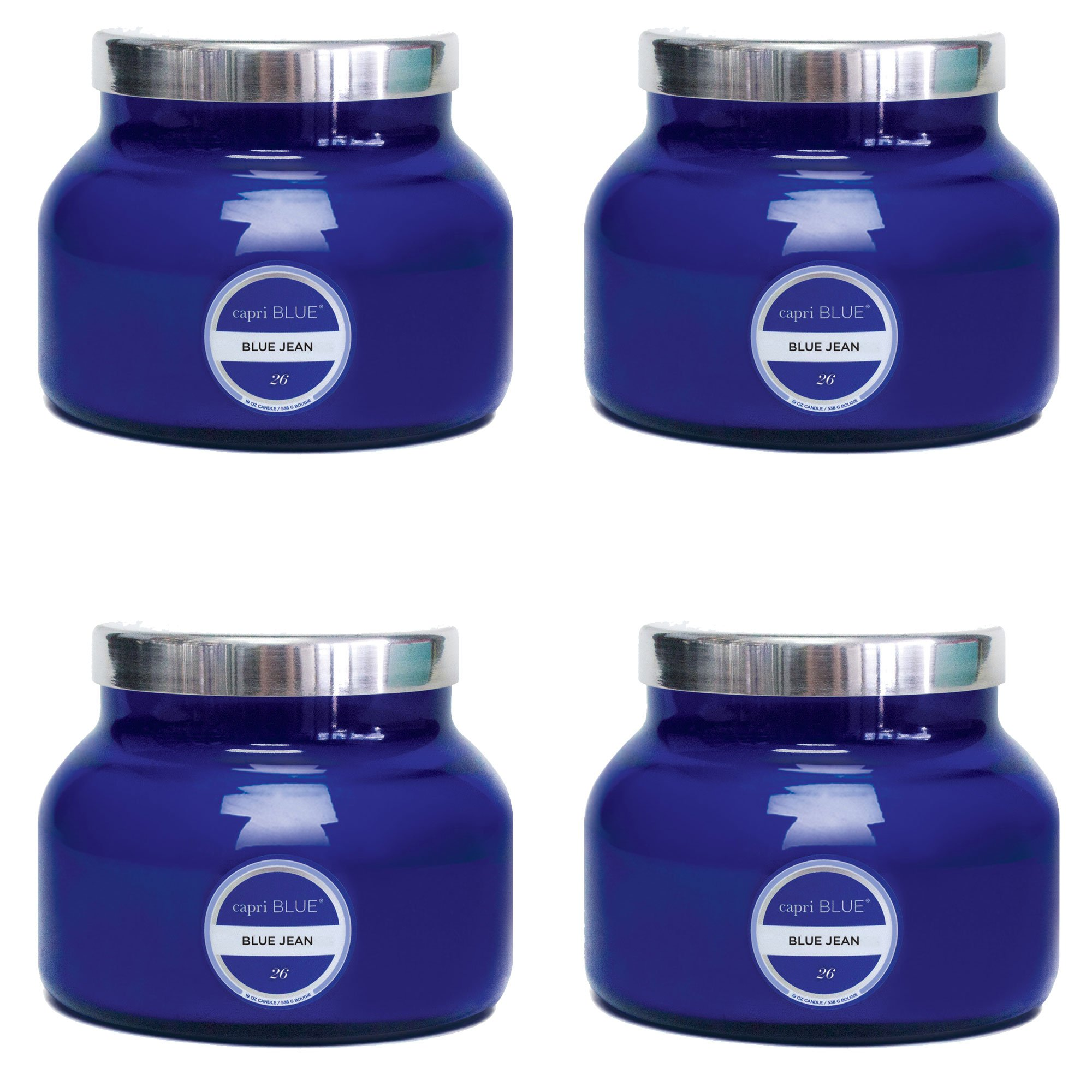 19 oz Capri Blue Signature Jar Blue Jean (4 pack) (blue) by Capri Blue