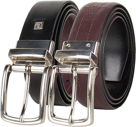 Size 40 Georgia Black Leather Belt