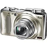 Fujifilm FINEPIX F550EXR Digitalkamera (16 Megapixel, 15-fach opt. Zoom, 7,6 cm (3 Zoll) Display, bildstabilisiert, GPS-Funktion) champagner