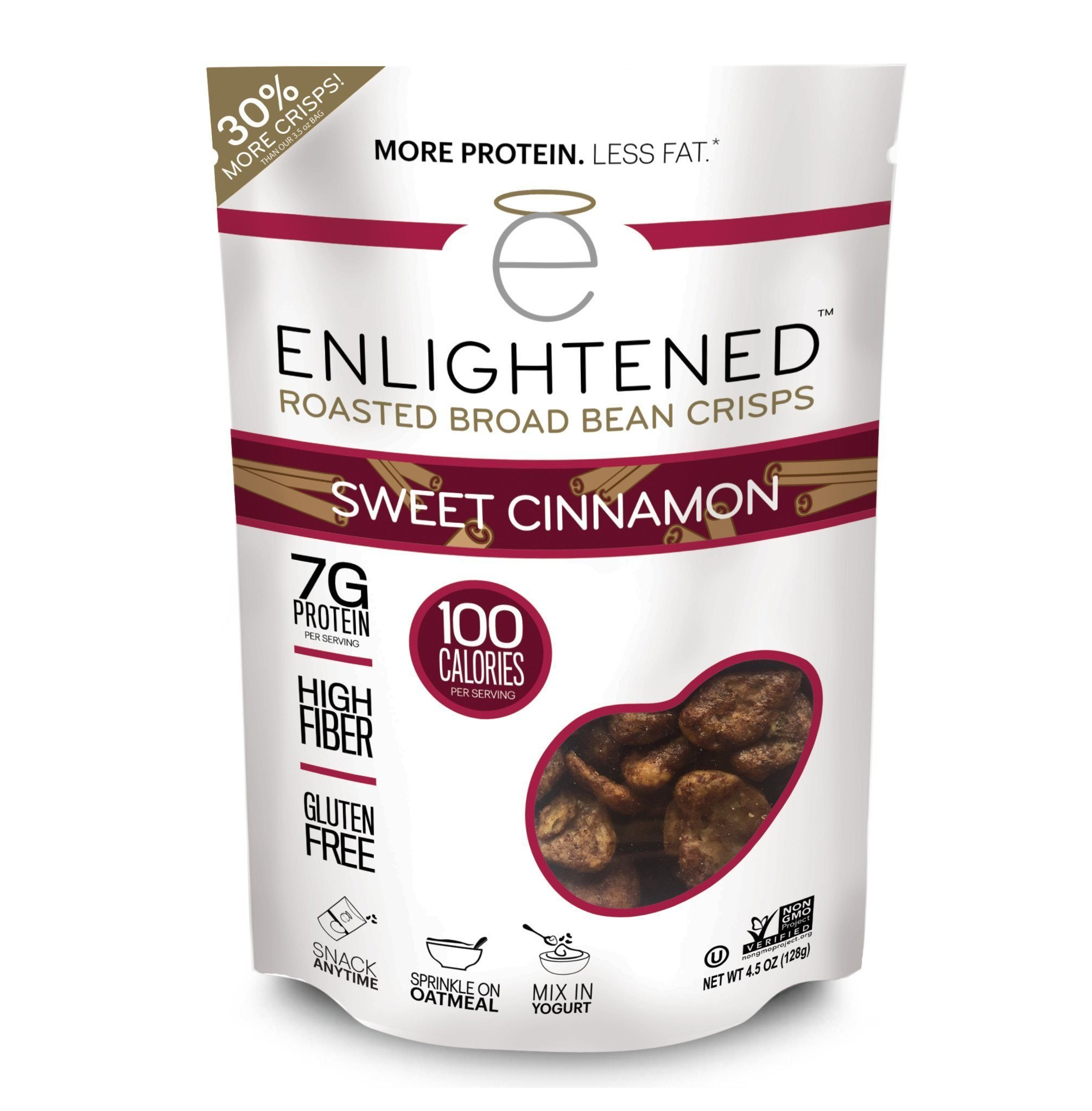 Enlightened Roasted Broad Bean Crisps - Sweet Cinnamon 4.5 OZ / Singles