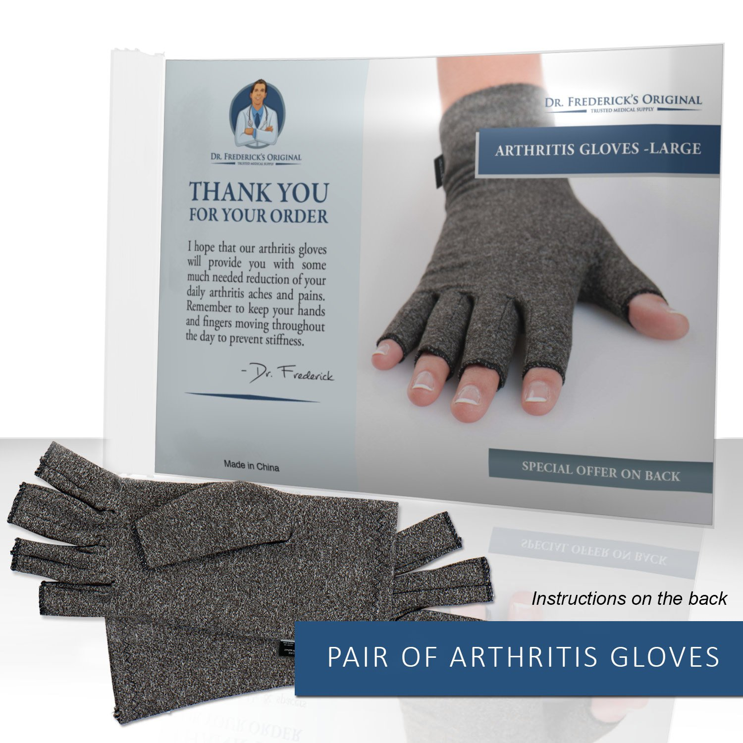 Driving gloves for arthritic hands - Amazon Com Dr Frederick S Original Arthritis Gloves Warmth And Compression For Relief Of Rheumatoid And Osteoarthritis Joint Pain Large Health
