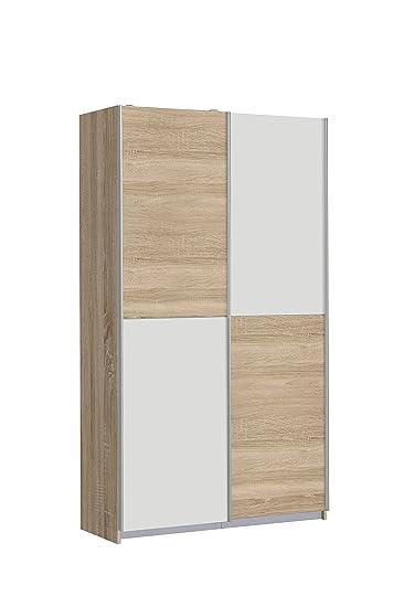 NEWFACE OHS722X4-Q45F Ohio Mehrzweckschrank, Holz, Sonoma Eiche/Weiß ...