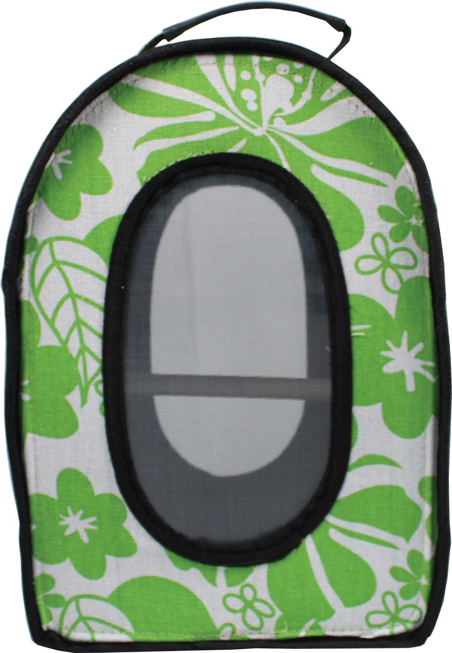 A&E CAGE COMPANY 001377 Happy Beaks Soft Sided Travel Bird Carrier Green, 14.5X10.5X7 in by A&E CAGE COMPANY