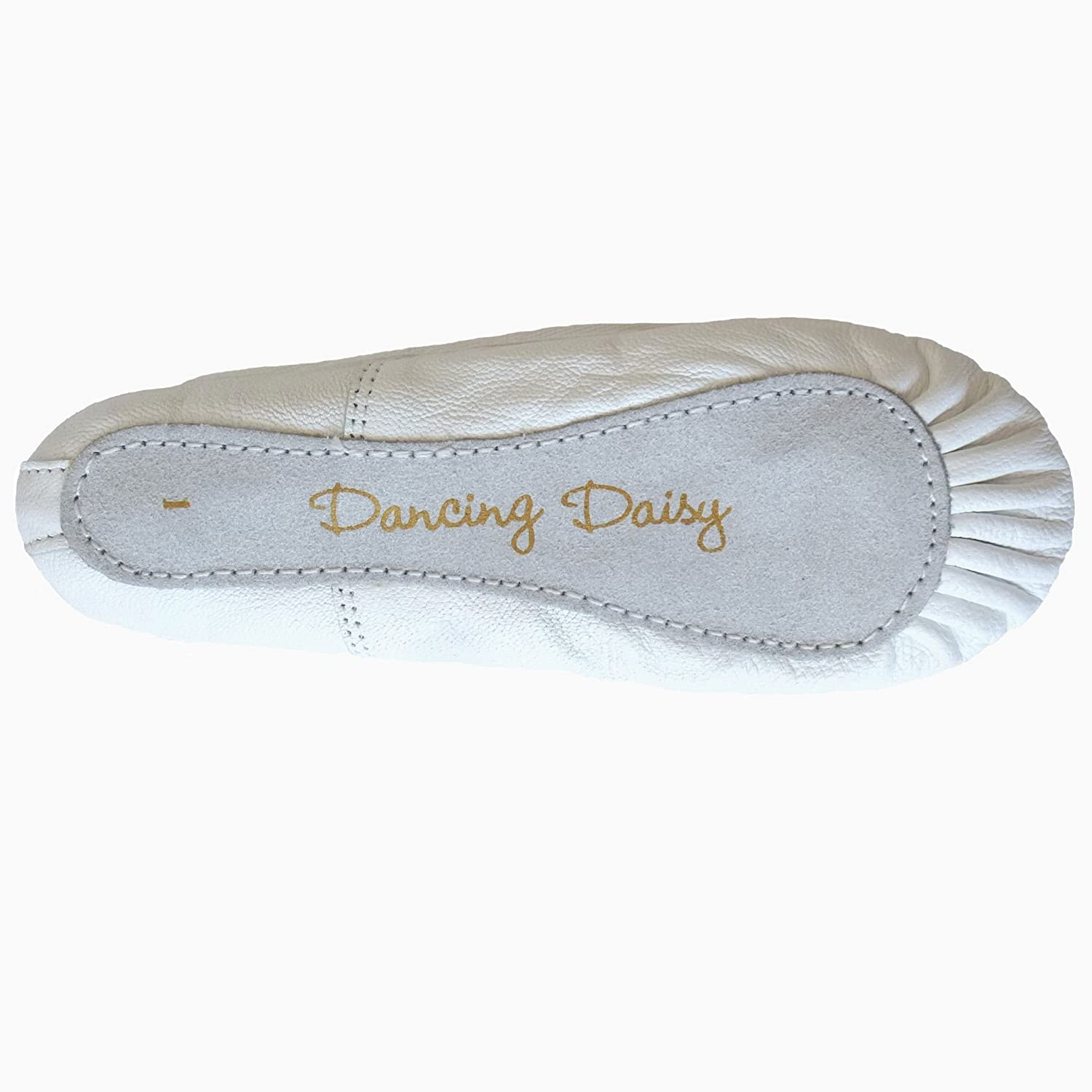 Dancing Daisy Boys or Girls White Leather Ballet Shoes in UK Sizes